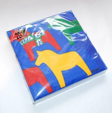 Blue Dala Horse Napkins