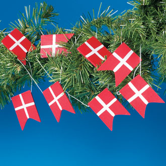 Danish Flag Garland